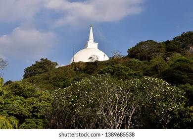 Stupa, dageba Mihintale ancient city Sri Lanka