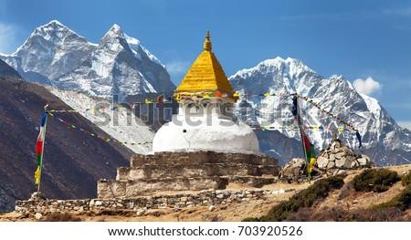 Stupa near Dingboche village
