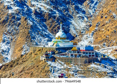 The stupa is one of the ancient and oldest stupas located in Leh city, Ladakh, Jammu & Kashmir, India, Asia. Shanti stupa is the most silent and peaceful place. It the holiest places in Ladakh region.