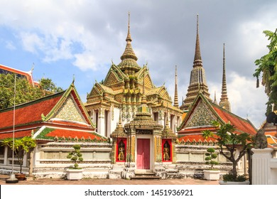Stupas in Wat Pho, Bangkok, Thailand