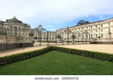 STUPINIGI, ITALY - APRIL 28, 2015: Stupinigi Palace on April 28, 2015 in Stupinigi, Italy. It is the royal residence of the House of Savoy and a unesco world heritage site.
