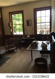 STURBRIDGE, MA - JUN 26: Salem Towne House at Old Sturbridge Village in Sturbridge, Massachusetts on Jun 26, 2016. Its a living museum re-creating life in rural New England during 1790s through 1830s.