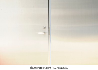 Sturdy steel door