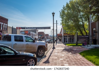 Sturgis, SD, USA - May 29, 2019: A well known city for its motorcycle rally history