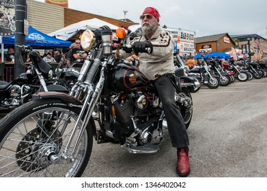 Sturgis, Sout Dakota USA - August 5, 2015 Bikers at Sturgis for the annual rally
