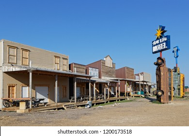 STURGIS, SOUTH DAKOTA, September 10, 2018 : Full throttle Saloon is called the World Largest Biker Bar. Events for numbers of bikers stand here each year, as meetings, rides and concerts.