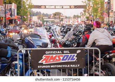 Sturgis, South dakota / United States   august 6th 2018: bike week motorcycles in sturgis Main street