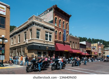 Sturgis, South Dakota, USA August 5, 2015 Sturgis town during the annual rally for bikers
