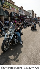 Sturgis, South Dakota, USA - August 5, 2015 Sturgis town for the annual motorbike rally