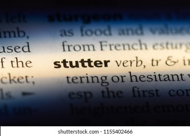 stutter word in a dictionary. stutter concept.