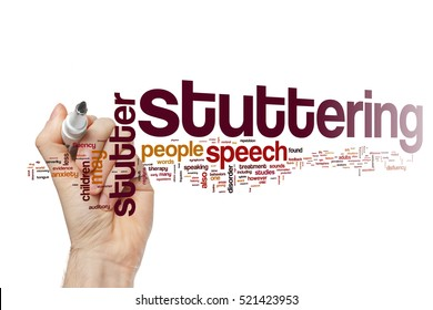 Stuttering word cloud