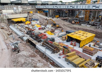 Stuttgart 21 Construction area, Stuttgart, Baden-Wuerttemberg, Germany - 06.21.2019