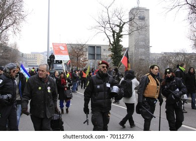 STUTTGART 21 - JAN 29: Demonstration K21 against the construction of the railway station in Stuttgart - Germany. January 29, 2011 in Stuttgart, Germany