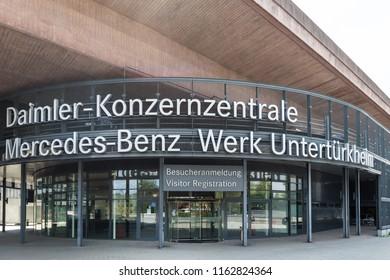 stuttgart, Baden-Wurttemberg/germany - 21 08 2018: daimler central factory stuttgart germany