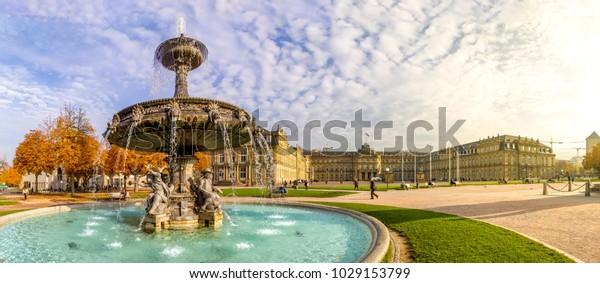 Stuttgart, Schlossplatz, Deutschland