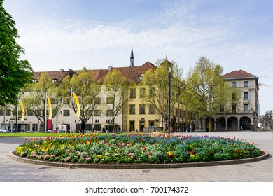 Stuttgart city with buildings and trees