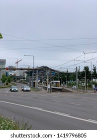 Stuttgart, Germany - 06/09/2019: The image shows the Pragsattel in Feuerbach, Stuttgart.