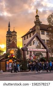 Stuttgart/ Germany - 12 02 2019: Stuttgart Christmas market 2019