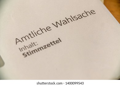 STUTTGART, GERMANY - 17. Mai 2019: Amtliche Stimmzettel für die Gemeinderatswahl in Stuttgart - ballot paper for election of the parish council in Stuttgart, Germany