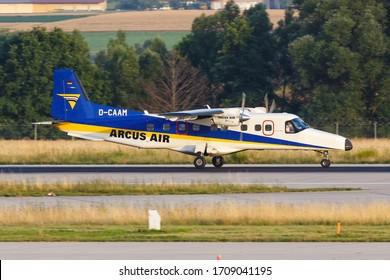 Stuttgart, Germany – 19. July 2017: Arcus Air Dornier 228 at Stuttgart airport (STR) in Germany.