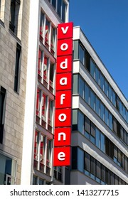 Stuttgart, GERMANY - Apr 20, 2019:  Vodafone - Vodafone is a British multinational telecommunications company and It is the one of the world's largest mobile telecommunications company