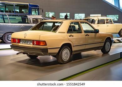 Stuttgart, Germany - April 13, 2019: 1984 Mercedes-Benz 190E 'Baby Benz' W201 classic old retro vintage compact 1980s luxury executive car