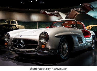 STUTTGART, GERMANY - APRIL 19, 2014: Vintage 1954 Mercedes-Benz 300SL on display at the Mercedes-Benz Museum.