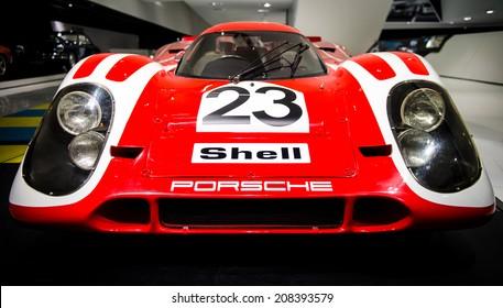 STUTTGART, GERMANY - APRIL 19, 2014: 1970 Porsche 917 Kurzheck on display at the Porsche Museum.