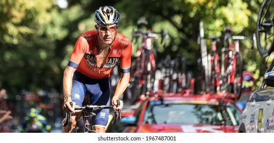 Stuttgart, Germany - August 23, 2018: Heinrich Haussler (AUS) racing stage 4 of the 11th Deutschland Tour 2018