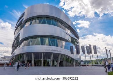 STUTTGART, GERMANY - CIRCA AUGUST 2016 - Mercedes Benz museum in Stuttgart, Germany