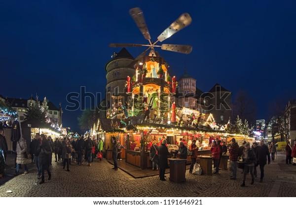 Christmas In Stuttgart Germany.Stuttgart Germany December 14 2017 Christmas Stock Photo