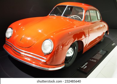 "STUTTGART, GERMANY - DECEMBER 29, 2011: Interior and exhibits of ""Porsche Museum"""