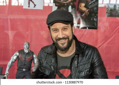 STUTTGART, GERMANY - JUN 30th 2018: Stefan Kapicic (Colossus in Deadpool) at Comic Con Germany Stuttgart, a two day fan convention
