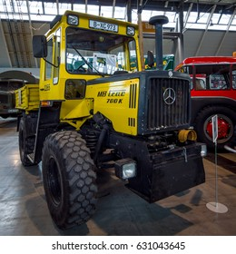 """STUTTGART, GERMANY - MARCH 03, 2017: Tractor Mercedes-Benz MB-Trac 700 K, 1987. Europe's greatest classic car exhibition """"RETRO CLASSICS"""""""