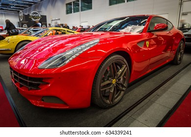"STUTTGART, GERMANY - MARCH 03, 2017: Grand tourer car Ferrari FF, 2014. Europe's greatest classic car exhibition ""RETRO CLASSICS"""