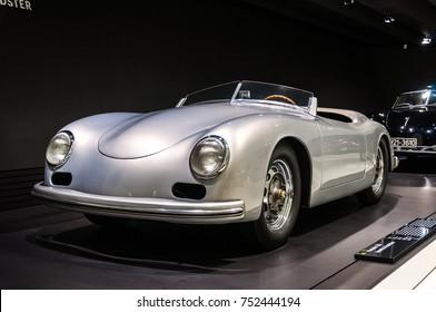 Stuttgart, Germany, March, 21, 2013, Porsche 356 Nr. 1 Roadster, Porsche Museum exhibition