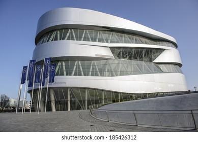 """STUTTGART, GERMANY - MARCH 30, 2014: Museum """"Mercedes-Benz Welt"""""""