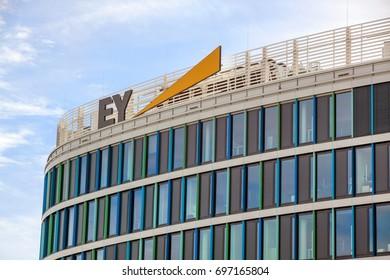 Stuttgart, Germany - May 06, 2017: accountancy firm Ernst & Young GmbH Wirtschaftsprufungsgesellschaft