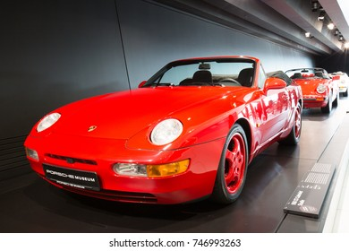"STUTTGART, GERMANY - NOVEMBER 01, 2017: Interior and exhibits of ""Porsche Museum"""