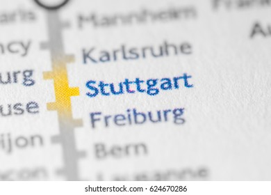 Stuttgart, Germany on a geographical map.