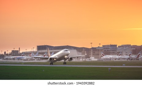 Stuttgart, Germany - September 15, 2020: Turkish Airlines Airbus A321-231 TC-JSJ aircraft short after take off at Stuttgart International Airport (IATA: STR, ICAO: EDDS).