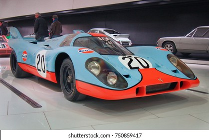 STUTTGART, GERMANY-MAY 21, 2017: 1970 Porsche 917 KH Coupe in the Porsche Museum. This car is the one of the most valuable in the world.