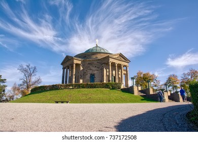 Stuttgart Grabkapelle Fall Afternoon Wispy Clouds Corner Arrival German Historical European Architecture
