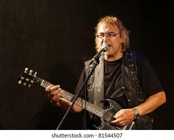 STUTTGART - JULY 22: Hannes Bauer & Band Gnadenlos in concert at  Stuttgart July 22, 2011 in Stuttgart, Germany