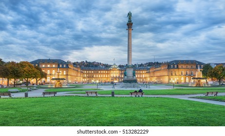 Stuttgart Morning View of Schlossplatz