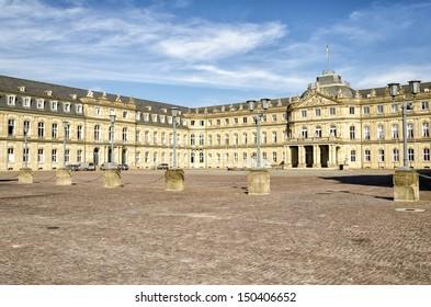 Stuttgart palace in the city center.