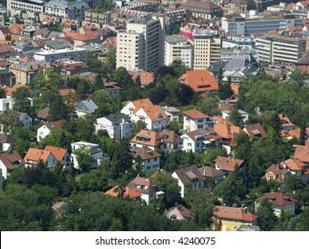Stuttgart view from oldest tv tower