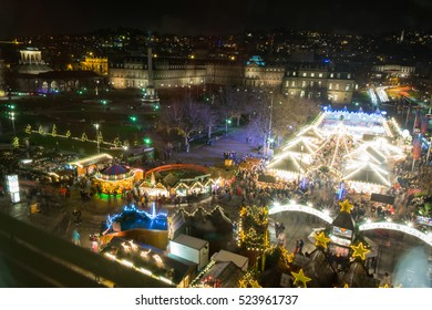 Stuttgart Weihnachtsmarkt Schlossplatz 2016 Christmas Market Night Lights City