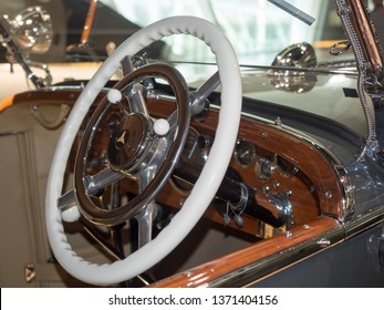 Stuttgart/Germany - July 14 2016: 1930 Mercedes-Benz Typ SS model at the Mercedes-Benz Museum.  This is an automobile museum covering the history of the Mercedes-Benz brand.