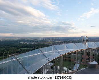 Stuttgart/Germany - July 14 2016: Overview of Stuttgart from Fernsehturm. This is a telecommunications tower in Stuttgart, Germany. It is a popular tourist attraction.